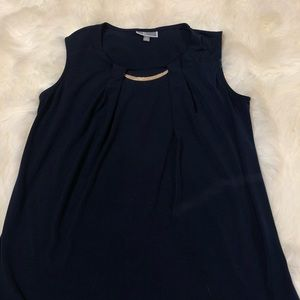 JM COLLECTION women's navy blouse- small